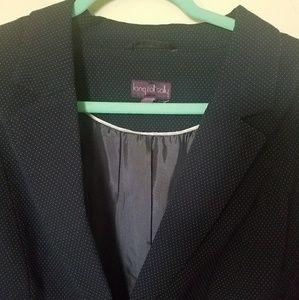 Retro Vintage Dot Blazer Jacket Plus Size